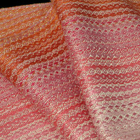 Woven Bamboo Scarf, Pink Champagne, Weaving by Loom on the Lake