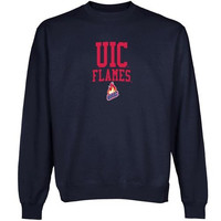 UIC Flames Team Arch Sweatshirt - Navy Blue