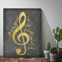 Gold Foil Printable, Black and Gold Print, Music Poster, Music Is What Feelings Sound Like,Printable Word Art,Instant Download, Gift Idea