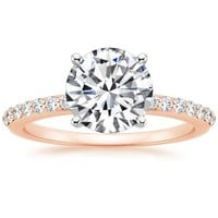 14K Rose Gold Petite Shared Prong Diamond Ring (1/4 ct. tw.)