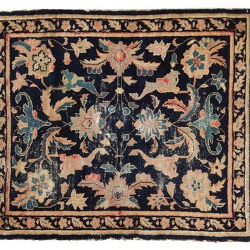 3.5x4 Antique Chinese Square Rug
