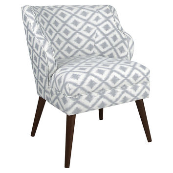 Kira Chair, Light Gray/White Diamond, Accent & Occasional Chairs