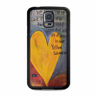 Yellow Submarine Beatles Song Lyrics Canvas For samsung galaxy s5 case