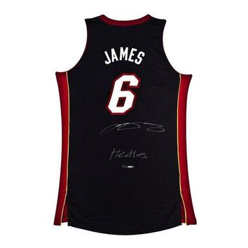 CREYONY LeBron James Signed Autographed Miami Heat Basketball Jersey (Upper Deck Authenticated)