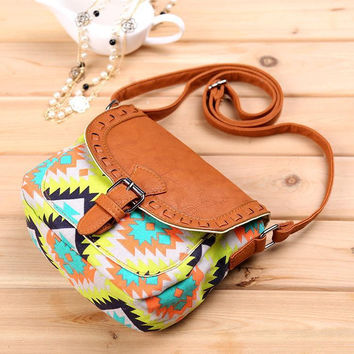 The European and American wind ladies fashion canvas cloth leisure cloth packet 4 color women shoulder bag messenger bag t44