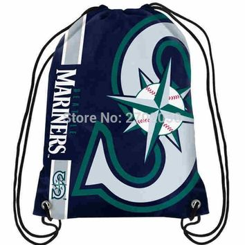 Seattle Mariners Drawstring Bags Men Sports Backpack Digital Printing Pouch Customize Bags 35*45cm Sports US Baseball Team
