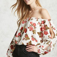 Floral Off-the-Shoulder Blouse