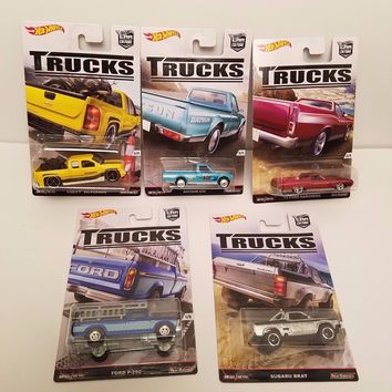 Set Of 5 Hot Wheels Trucks Car Culture NEW 2016 IN STOCK
