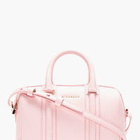 PINK LEATHER LUCREZIA MINI DUFFLE BAG