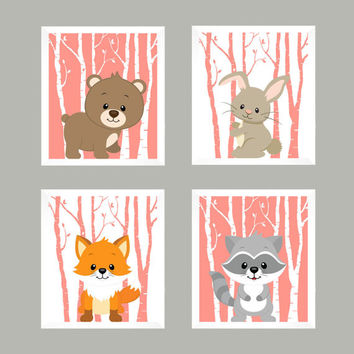 Woodland Nursery, Forest Animals, Nursery Decor, Baby Decor, Baby Print, Nursery Print, Animal Print, Woodland Animals, Wall Art, Wall Decor