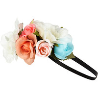 River Island Girls pink floral garland head band