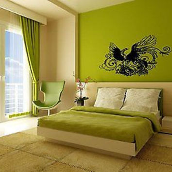 Phoenix Bird Stylish Bedroom Wall Art Sticker Decal Ar267