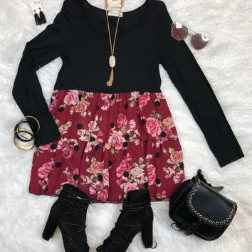 Piece of My Heart Floral Top