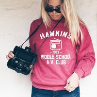 Hawkins Middle School AV Club Sweatshirt