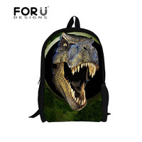 FORUDESIGNS Dinosaur Printing Backpack for Boys Primary School Bags Backpack Student Daypack Shoulder Back Pack Bag Sales Price