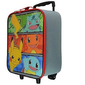 Licensed Nintendo Pikachu Pokemon Go Rolling Suitcase Kids/Child Travel Luggage