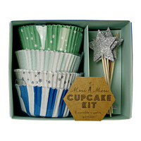 MERI MERI TOOT SWEET BLUE CUPCAKE KIT