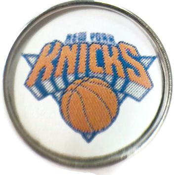 NBA Basketball Logo New York Knicks 18MM - 20MM Fashion Snap Jewelry Snap Charm New Item