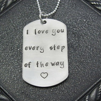 Encouragement Stamped Dog Tag