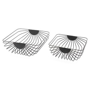 Black Wired Trays (Set of 2)