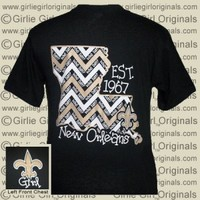Who Dat? State Chevron (Short Sleeve) - $16.99 : Girlie Girl™ Originals - Great T-Shirts for Girlie Girls!