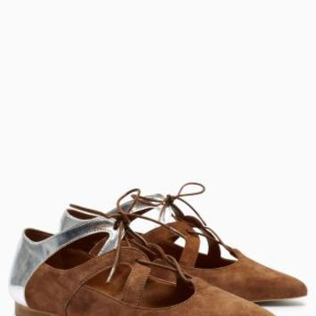 Buy Mink Lace-Up Point Shoes online today at Next: United States of America