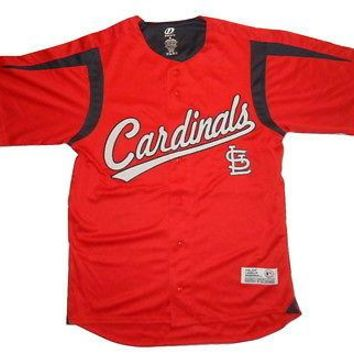 St. Louis Cardinals MLB Baseball Jersey Button Down Authentic Adult Jersey Top