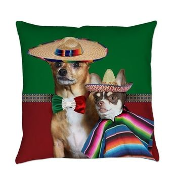 MEXICAN CHIHUAHUA DOGS EVERYDAY PILLOW