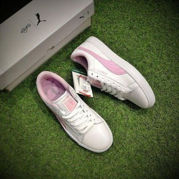 ONETOW Best Online Sale BTS X Puma Court Star White Pink Shoes Women Casual Shoes