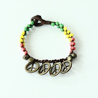 The Peace with Reggae Color Style Bracelet