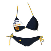 "Corona ""Beer Label"" Navy Bikini"
