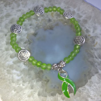 """Lymphoma Cancer Support Bracelet (355)  6 1/4"""", Lyme Disease, Muscular Dystrophy, cancer awareness collection, unique visions by jen"""