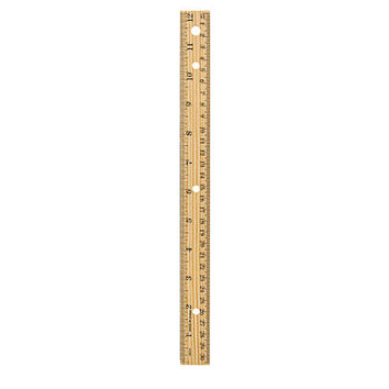 "Office Depot® Brand Wood Metal-Edge Ruler For Binders, 12"", Natural Item # 1378702"