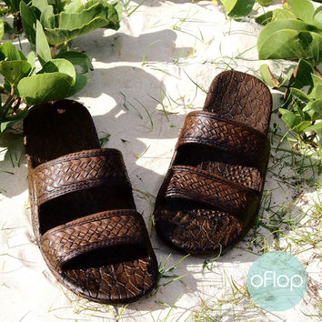 Dark Brown Jandals -- Pali Hawaii Classic Sandals