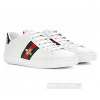Indie Designs Gucci Inspired Ace Embroidered Low-top Sneakers
