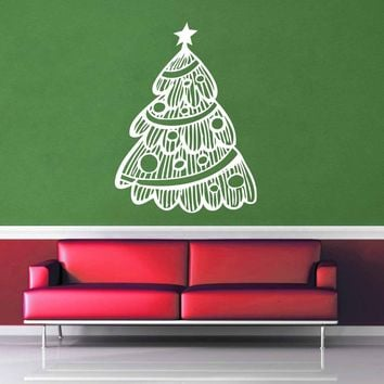 Retro - Christmas Tree - Wall Decal$8.95