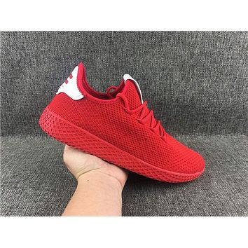 Adidas Pharrell Williams PW Tennis Hu Primeknit Red Men's Women's Sport Shoes Running