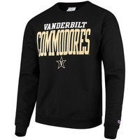 Vanderbilt Commodores Champion Eco Powerblend Expansion Pullover Sweatshirt – Black