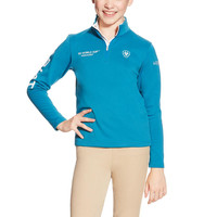 Ariat Youth FEI World Cup Conquest 1/2 Zip - Blue
