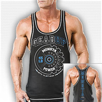 RCBK: Gear Up: Pushing Past Normal Limits-218: Black : Monsta Clothing Co, Bodybuilding Clothing, Powerlifting Apparel, Weightlifting Shirts, Workout Clothes and MORE