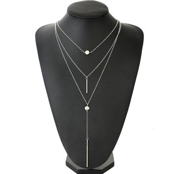 Multi Layer Necklace Bar for Women