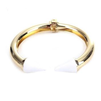 White Love Arrow Bangle