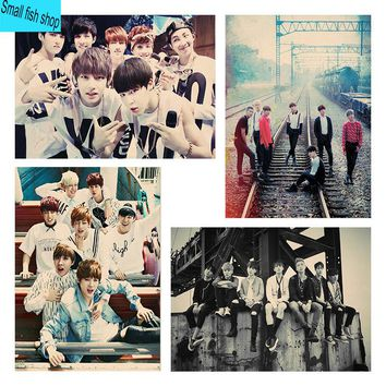 BTS Jimin Jin Home Furnishing decoration music Poster Drawing home decor Wall stickers kpop