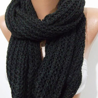 ON SALE  UNISEX  Elegant and soft  Infinity Scarf  Circle Scarf   Knit Fall Scarf   Dark Gray