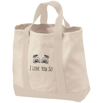 I Love You So 2-Tone Shopping Tote