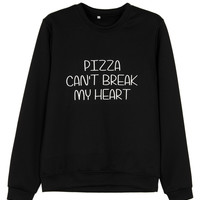 Plus Size Black Letter Print Long Sleeve Sweatshirt