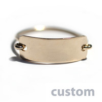 Custom Ring - Gold Name Plate Ring