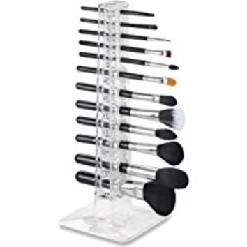 Alegory Acrylic Makeup Brush Organizer, 24 Spaces - Clear