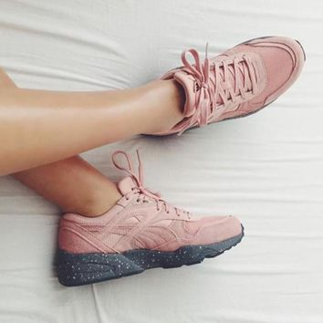 puma winterized pink pomo leisure running sports shoes