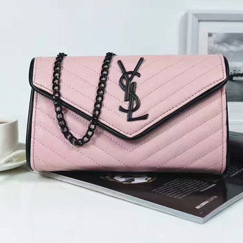 YSL Women Shopping Fashion Leather Chain Satchel Shoulder Bag Crossbody  G-LLBPFSH